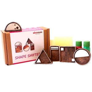 Wooden Shape Shifter Stamp Set (Set of 5 blocks) - 100% Safe, Natural & Eco-friendly