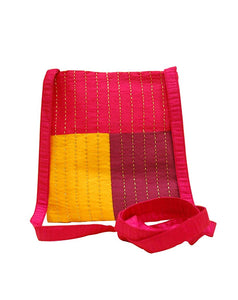 Handcrafted Sling Bag (04) - Red, Maroon and Yellow