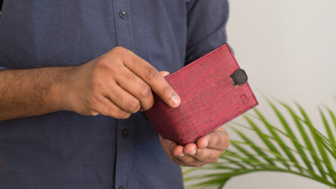 Cruelty-free Cork Fabric Wallet (Arden)