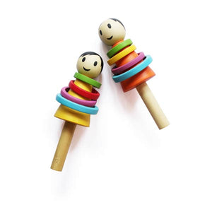 Wooden Baby Boy Rattle - 100% Safe, Natural & Eco-friendly