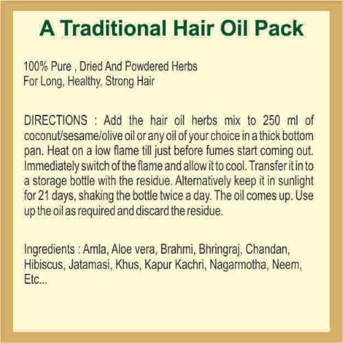 Hair Oil with a Mix Of Herbs, 30ml