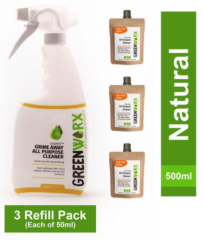 All Purpose Cleaner Combo  (Spray Bottle and 3 Refill Pouches), 340g