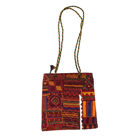 Sling Bag with Lambani Hand-Embroidery - Red (ALS-7)