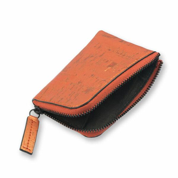Cork Fabric Women's  Aki Compact Wallet - Sunset