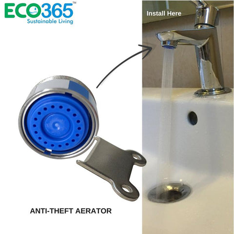 Anti-Theft  Water Saving Shell Tap Adapter 3 Litres Per Minute - Pack of 2