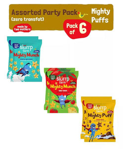 Assorted Mighty Puffs Combo Pack | Choco Ragi, Cheese and Herbs, Tangy Tomato | Healthy Snack for Kids (Pack of 6), 120g