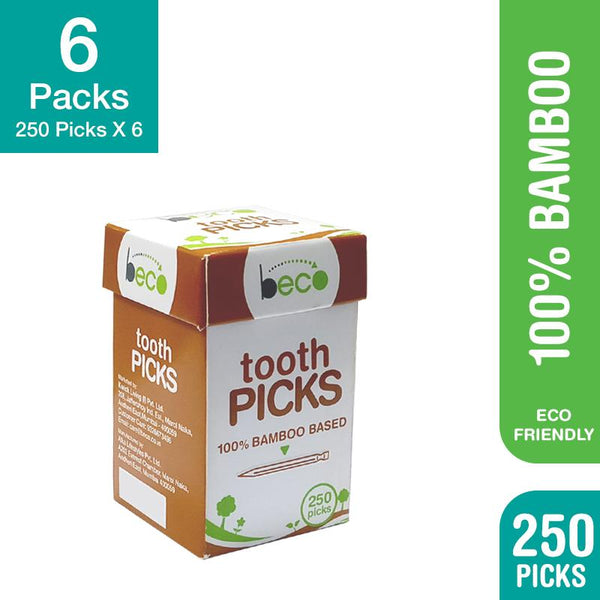 Eco-friendly Bamboo Toothpicks - 250 picks