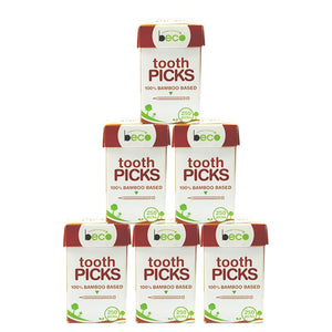 Eco-friendly Bamboo Toothpicks - Pack of 25