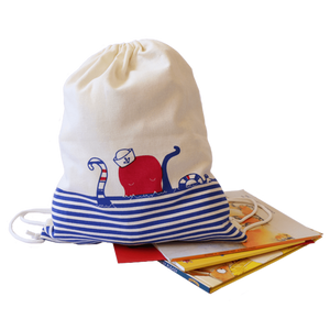 Treasure Trove Canvas Drawstring Toy Bag for Toddlers (Octopus)