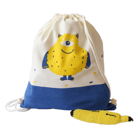 Treasure Trove Canvas Drawstring Toy Bag for Toddlers (Furso)