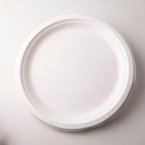 Biodegradable Bagasse Plates (Pack of 50)