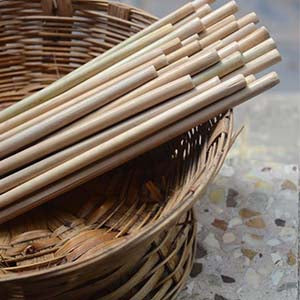 Natural Bamboo Straws (Pack of 4)