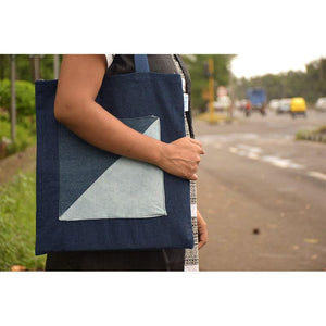 Bare Bag made with Upcycled Jeans