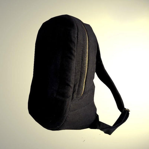 Black Canvas Laptop Bag