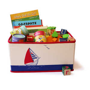 Foldable & Stackable Canvas Storage Bin (Sailboat Saver)