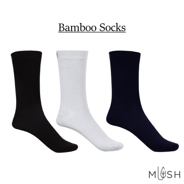 Breathable, Anti-Odour and Anti-Microbial Bamboo Formal Socks - Pack of 3 Pairs - Assorted Colours