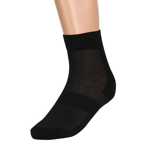 Breathable and Anti-Odour Bamboo Performance Sports Socks with Cushion Comfort, Pack of 3 Pairs - Black