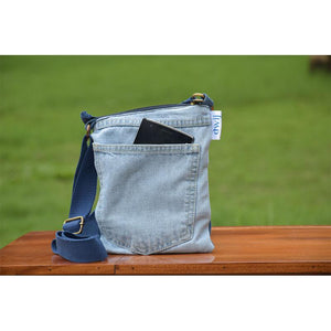 Brisk Bag made with Upcycled jeans