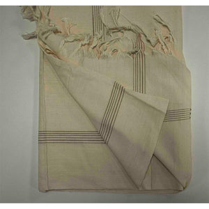 Handwoven Plain Natural-Coloured Kora Shawl