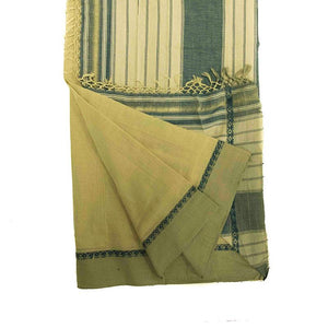 Handwoven Cotton Mango Saree with Contrasting Border