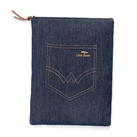 Laptop Sleeve made from Upcycled Denim