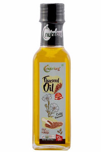 Certified Organic Flaxseed Oil - Pack of 2, 100ml each