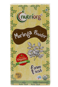 Certified organic Moringa Powder 150gm.