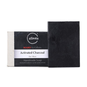 Natural Charcoal Soap for Men, 100g