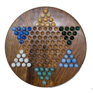 Handcarved Wooden Chinese Checkers