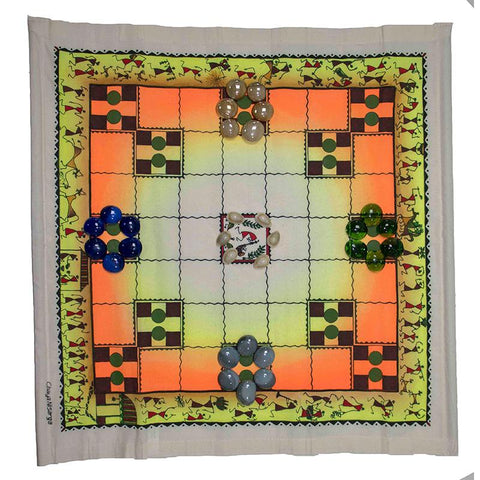 Choukabara (7 x 7) - Handmade Traditional Indian Board Game