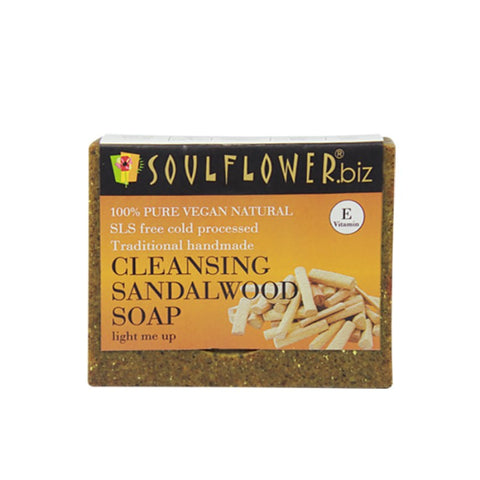 Soulflower Cleansing Sandalwood Soap, 150g