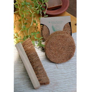 Coconut Coir Multi-Purpose Scrubber & Laundry Brush Combo