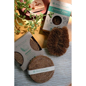 Coconut Fibre Multipurpose Scrubber & Vegetable Cleaner Combo