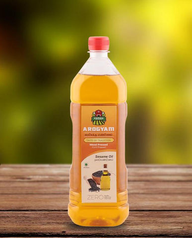 Cold-Pressed Natural Sesame Oil, 1000ml