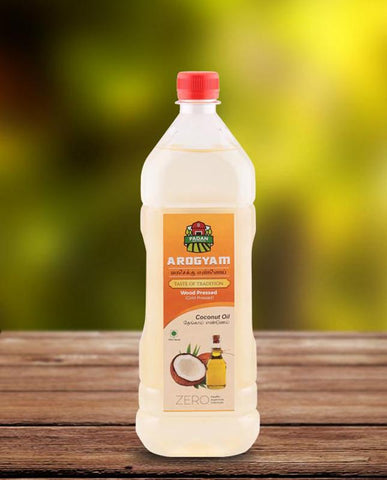 Cold-Pressed Natural Coconut Oil, 1000ml