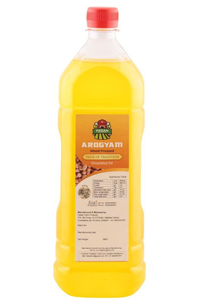 Cold-Pressed Natural Groundnut Oil, 1000ml