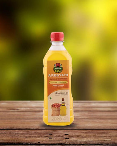 Cold-Pressed Natural Groundnut Oil, 500ml