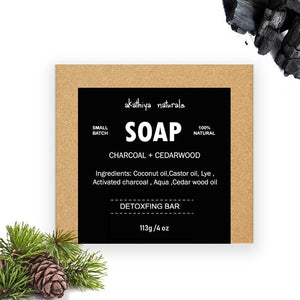 Cold-Processed, Detoxifying Activated Charcoal Soap - Pack of 2, 113g each