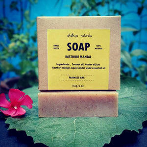 Handmade, Cold-Processed Kasthuri Manjal Soap - Pack of 2, 113g each