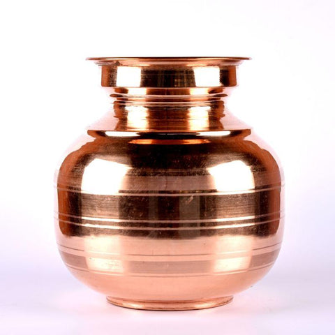 Copper Water Pot with Lid