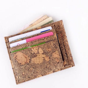 Men's Handcrafted Cork Card Holder - Natural