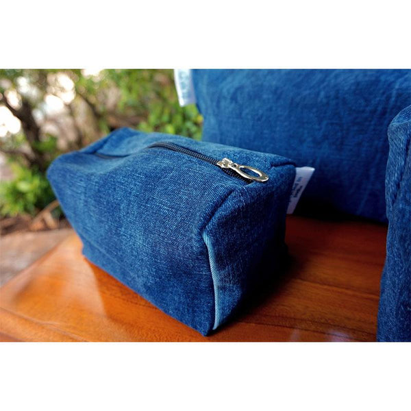 Cosmetic Pouches made with Upcycled Jeans (Set of 3)