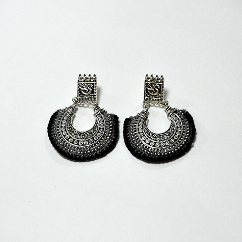 Crochet Chandbali Earrings