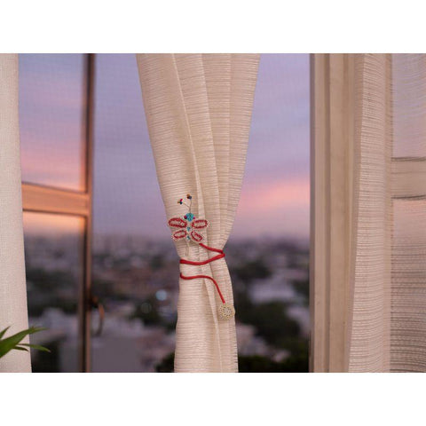 Crochet Curtain Tie - Dragonfly (Set of 2)