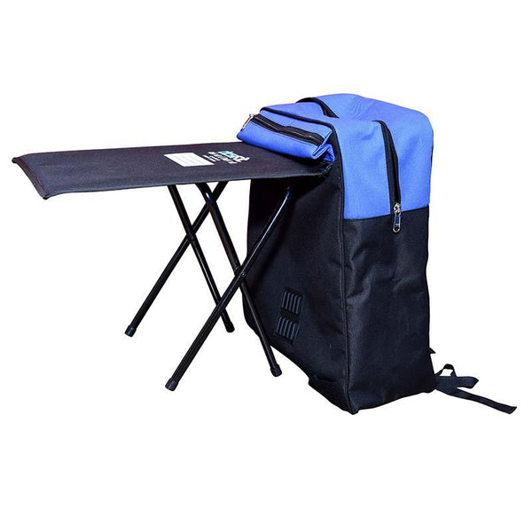 DESKITBackpack Convertible into Study Table - Created by Marginalised Women Artisans (25 Litres) - Blue