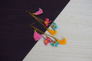 Hathi Tassel Earrings Hand Painted by Women Artisans