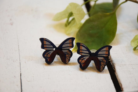 Butterfly Fly Away Earrings Hand Painted by Women Artisans