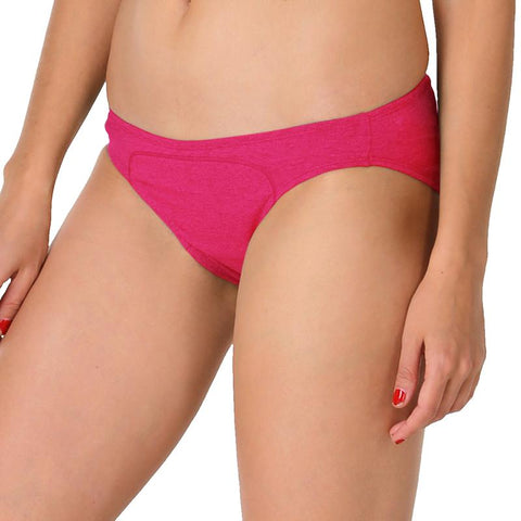 Women's Hipster Period Panty for Medium Flow (Dark Pink)