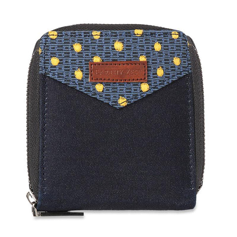 Upcycled Denim Women's Half Wallet
