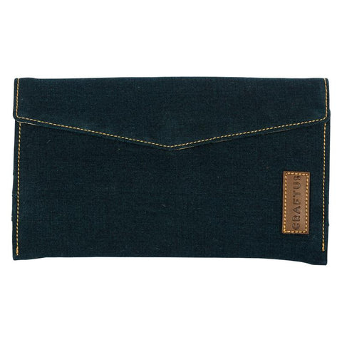 Denim Women's Wallet Handmade by Women Artisans